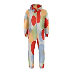 Contrast Analogous Colour Circle Red Green Orange Hooded Jumpsuit (Kids)