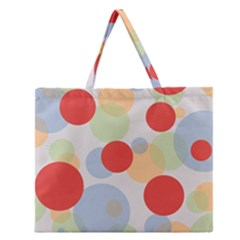 Contrast Analogous Colour Circle Red Green Orange Zipper Large Tote Bag