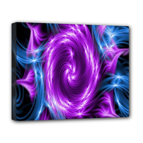 Colors Light Blue Purple Hole Space Galaxy Deluxe Canvas 20  x 16