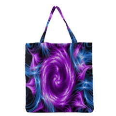 Colors Light Blue Purple Hole Space Galaxy Grocery Tote Bag