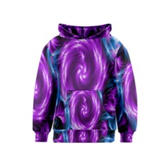 Colors Light Blue Purple Hole Space Galaxy Kids  Pullover Hoodie