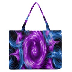 Colors Light Blue Purple Hole Space Galaxy Medium Zipper Tote Bag