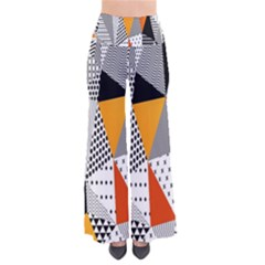 Contrast Hero Triangle Plaid Circle Wave Chevron Orange White Black Line Pants