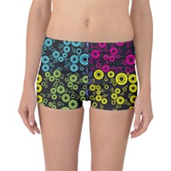 Circle Ring Color Purple Pink Yellow Blue Boyleg Bikini Bottoms