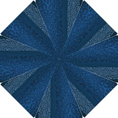 Fabric Blue Batik Golf Umbrellas