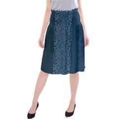 Fabric Blue Batik Midi Beach Skirt