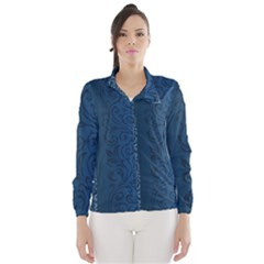 Fabric Blue Batik Wind Breaker (Women)