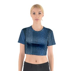 Fabric Blue Batik Cotton Crop Top