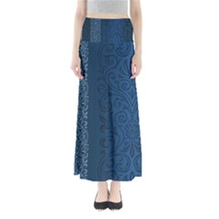 Fabric Blue Batik Maxi Skirts