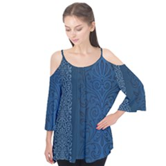 Fabric Blue Batik Flutter Tees