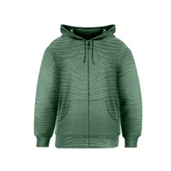 Illustration Green Grains Line Kids  Zipper Hoodie