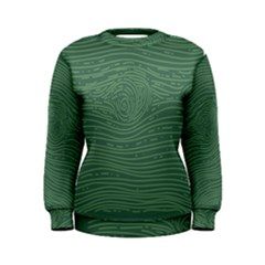 Illustration Green Grains Line Women s Sweatshirt