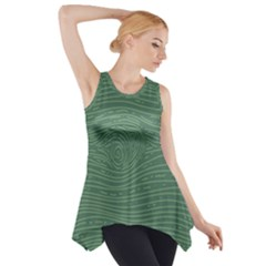 Illustration Green Grains Line Side Drop Tank Tunic