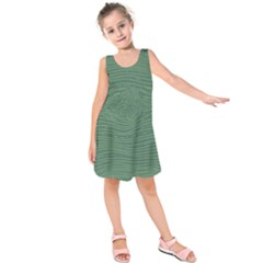 Illustration Green Grains Line Kids  Sleeveless Dress