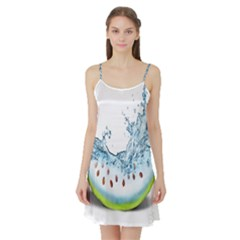 Fruit Water Slice Watermelon Satin Night Slip