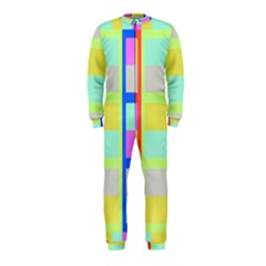 Maximum Color Rainbow Red Blue Yellow Grey Pink Plaid Flag OnePiece Jumpsuit (Kids)