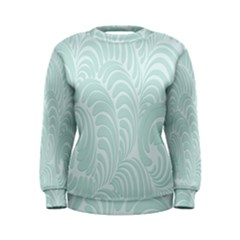Leaf Blue Women s Sweatshirt