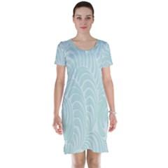 Leaf Blue Short Sleeve Nightdress