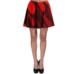 Missile Rockets Red Skater Skirt