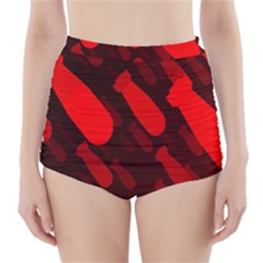 Missile Rockets Red High-Waisted Bikini Bottoms