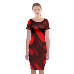 Missile Rockets Red Classic Short Sleeve Midi Dress