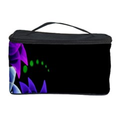 Neon Flowers Floral Rose Light Green Purple White Pink Sexy Cosmetic Storage Case