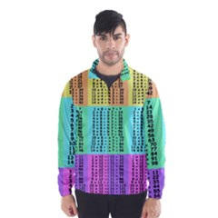 Multiplication Printable Table Color Rainbow Wind Breaker (men)