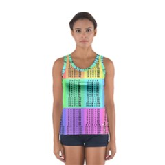 Multiplication Printable Table Color Rainbow Women s Sport Tank Top