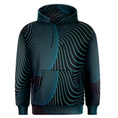 Line Light Blue Green Purple Circle Hole Wave Waves Men s Pullover Hoodie