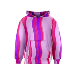 Pink Wave Purple Line Light Kids  Pullover Hoodie