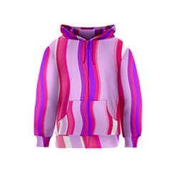 Pink Wave Purple Line Light Kids  Zipper Hoodie