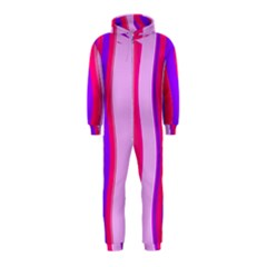Pink Wave Purple Line Light Hooded Jumpsuit (Kids)