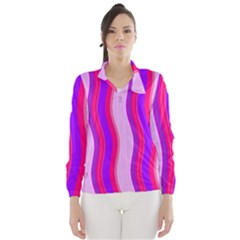 Pink Wave Purple Line Light Wind Breaker (Women)