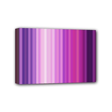 Pink Vertical Color Rainbow Purple Red Pink Line Mini Canvas 6  x 4
