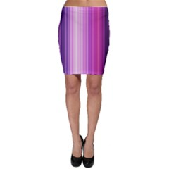 Pink Vertical Color Rainbow Purple Red Pink Line Bodycon Skirt