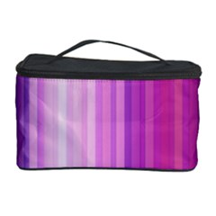 Pink Vertical Color Rainbow Purple Red Pink Line Cosmetic Storage Case