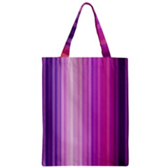 Pink Vertical Color Rainbow Purple Red Pink Line Zipper Classic Tote Bag