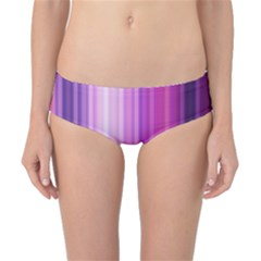 Pink Vertical Color Rainbow Purple Red Pink Line Classic Bikini Bottoms