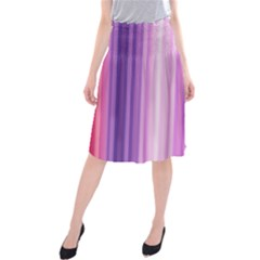 Pink Vertical Color Rainbow Purple Red Pink Line Midi Beach Skirt