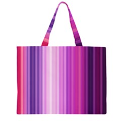 Pink Vertical Color Rainbow Purple Red Pink Line Large Tote Bag