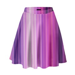 Pink Vertical Color Rainbow Purple Red Pink Line High Waist Skirt