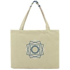 Shape Experimen Geometric Star Plaid Sign Mini Tote Bag