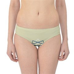 Shape Experimen Geometric Star Plaid Sign Hipster Bikini Bottoms