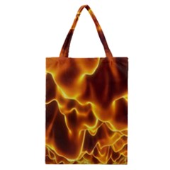Sea Fire Orange Yellow Gold Wave Waves Classic Tote Bag