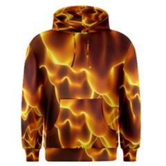 Sea Fire Orange Yellow Gold Wave Waves Men s Pullover Hoodie