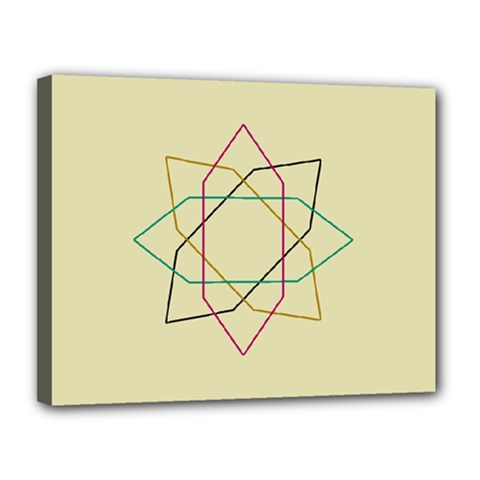 Shape Experimen Geometric Star Sign Canvas 14  X 11