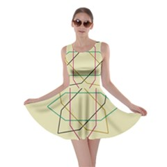 Shape Experimen Geometric Star Sign Skater Dress