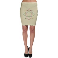 Shape Experimen Geometric Star Sign Bodycon Skirt