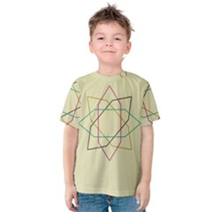 Shape Experimen Geometric Star Sign Kids  Cotton Tee