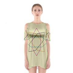 Shape Experimen Geometric Star Sign Shoulder Cutout One Piece